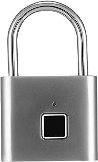 Fingerprint Padlock, Smart Padlock Usb Charging, Suitable for Gym, Sports, School & Employee Locker, Backpack,Suitcase,Tra...