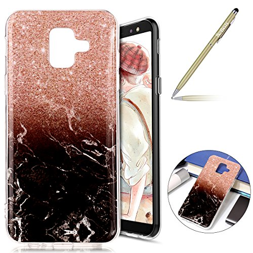 Herbests Coque Galaxy A6 2018 Housse en Silicone Etui Ultra Mince Slim Flexible Souple Soft Gel TPU Bumper Case Ultra Fine Anti Choc,#2909