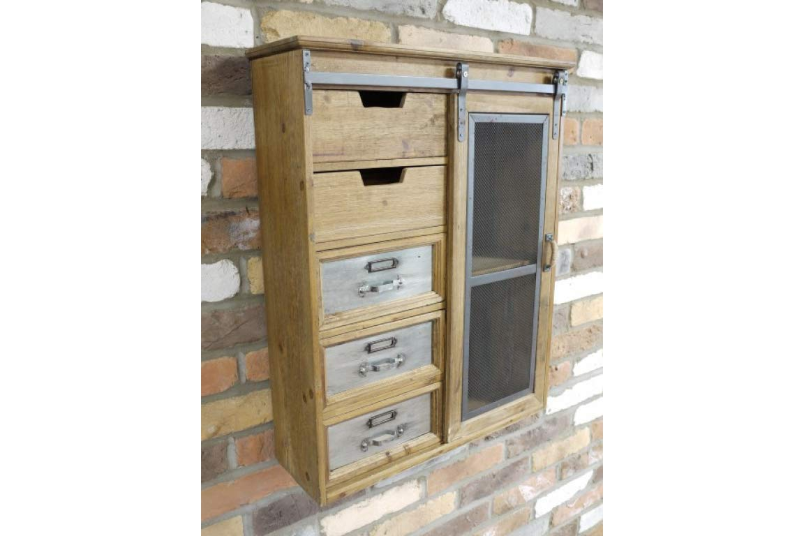 Elder And Moss Large Industrial Wall Cabinet Vintage Style Metal Wood Kitchen Bathroom Storage Buy Online In Faroe Islands Missing Category Value Products In Faroe Islands See Prices Reviews