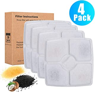 DELOMO Replacement Filters for 84oz/2.5 L Automatic Electronic Cat Water Fountain pet Water Drinking Fountain,  Pack of 4