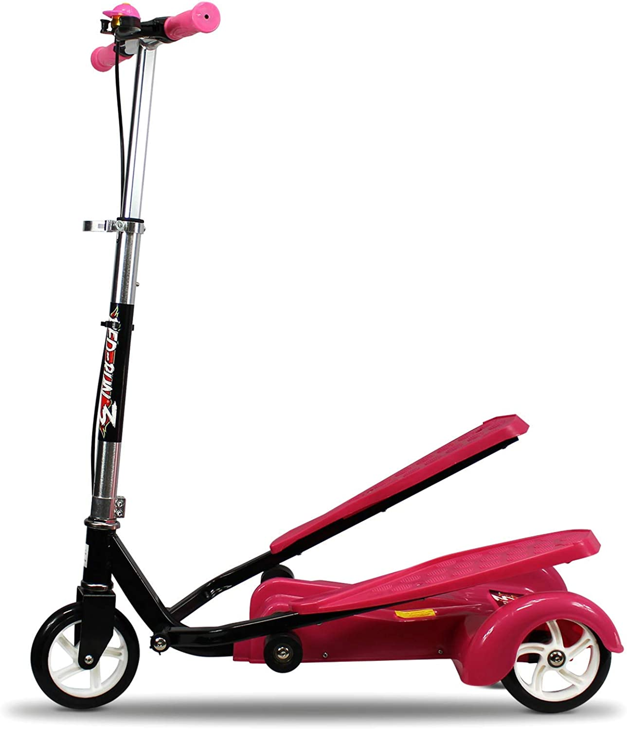 PedRun3 Kids Scooter for Boys and Girls with Advanced Dual Pedal Action, Bike Scooter Hybrid (Pink)