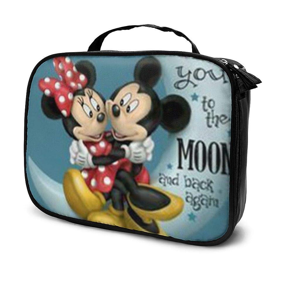 南制限されたキャプテンDaituラブミッキー&ミニー 化粧品袋の女性旅行バッグ収納大容量防水アクセサリー旅行