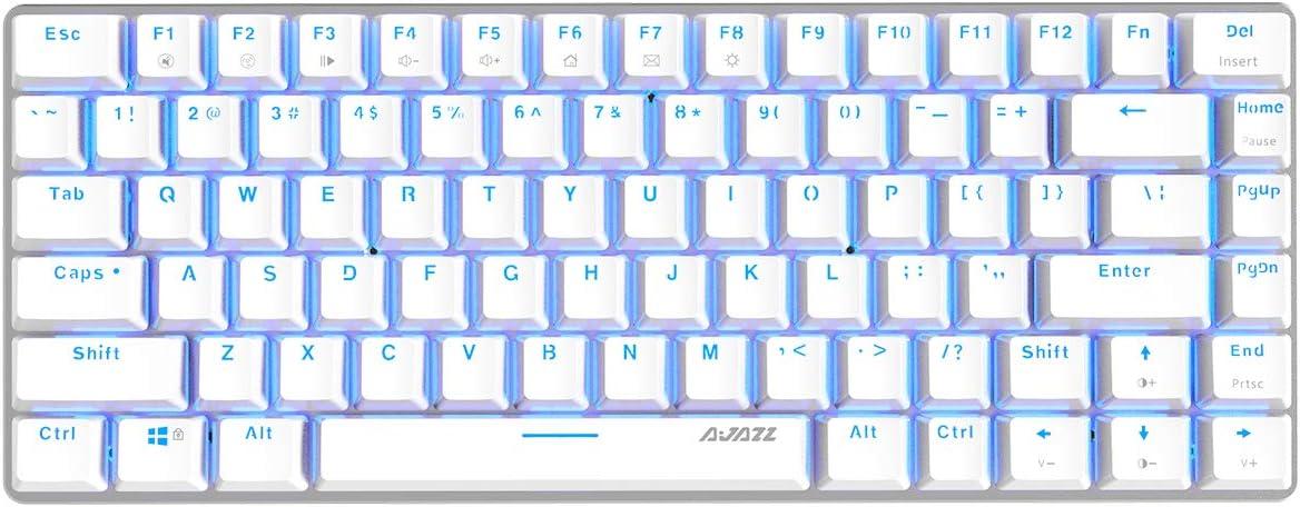 Ajazz AK33 Geek White Mechanical Keyboard