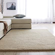 Shaggy Luxury Super Soft Area Rugs 4 cm Pile Thickness Fluffy Plush Carpet for Living Room, Kids Bedroom (120x160 cm, Ligh...