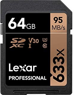 Lexar Professional 633x 64GB SDXC UHS-I Card (LSD64GCB1NL633)