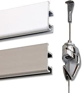 GalleryOne Professional Art Hanging System 18 feet (Paintable Aluminum)