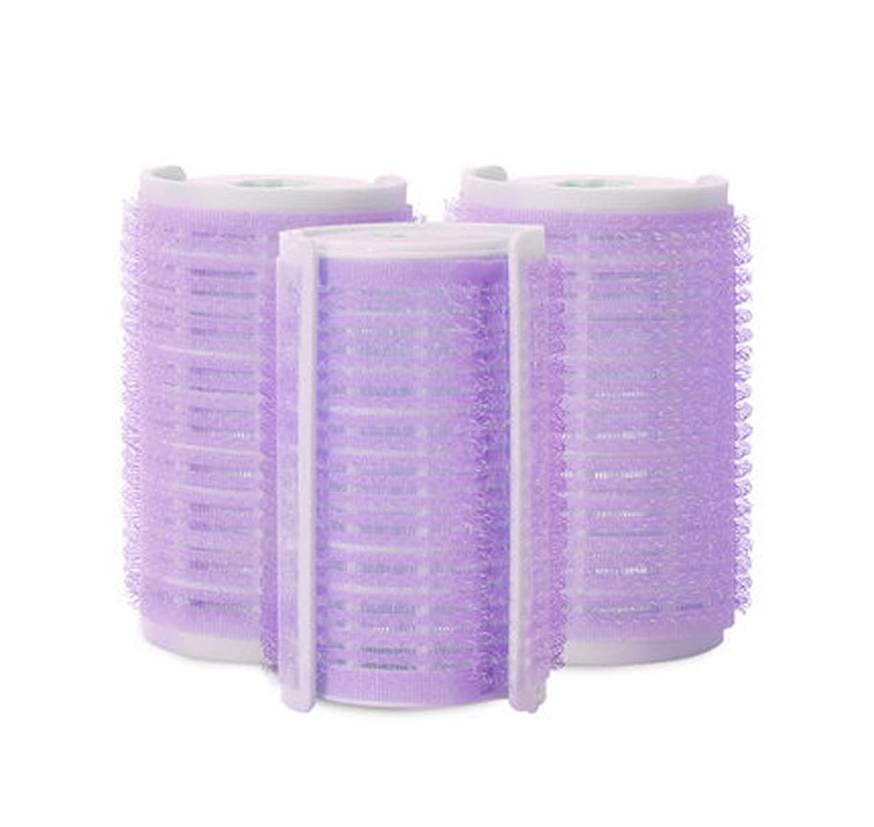 申込みブレイズ王室プラスチック製のDIYグリップ粘着ヘアローラーカーラーヘアドレス、3ピース-W2