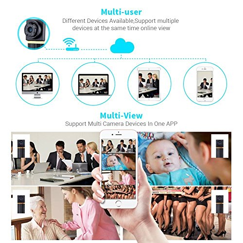 WiFi Hidden Camera TAOZHI HD 1080P Mini Spy Camera Security Camera Wireless Camera with Motion Detection Nanny Cam for iPhone/Android Phone/Ipad/Pc