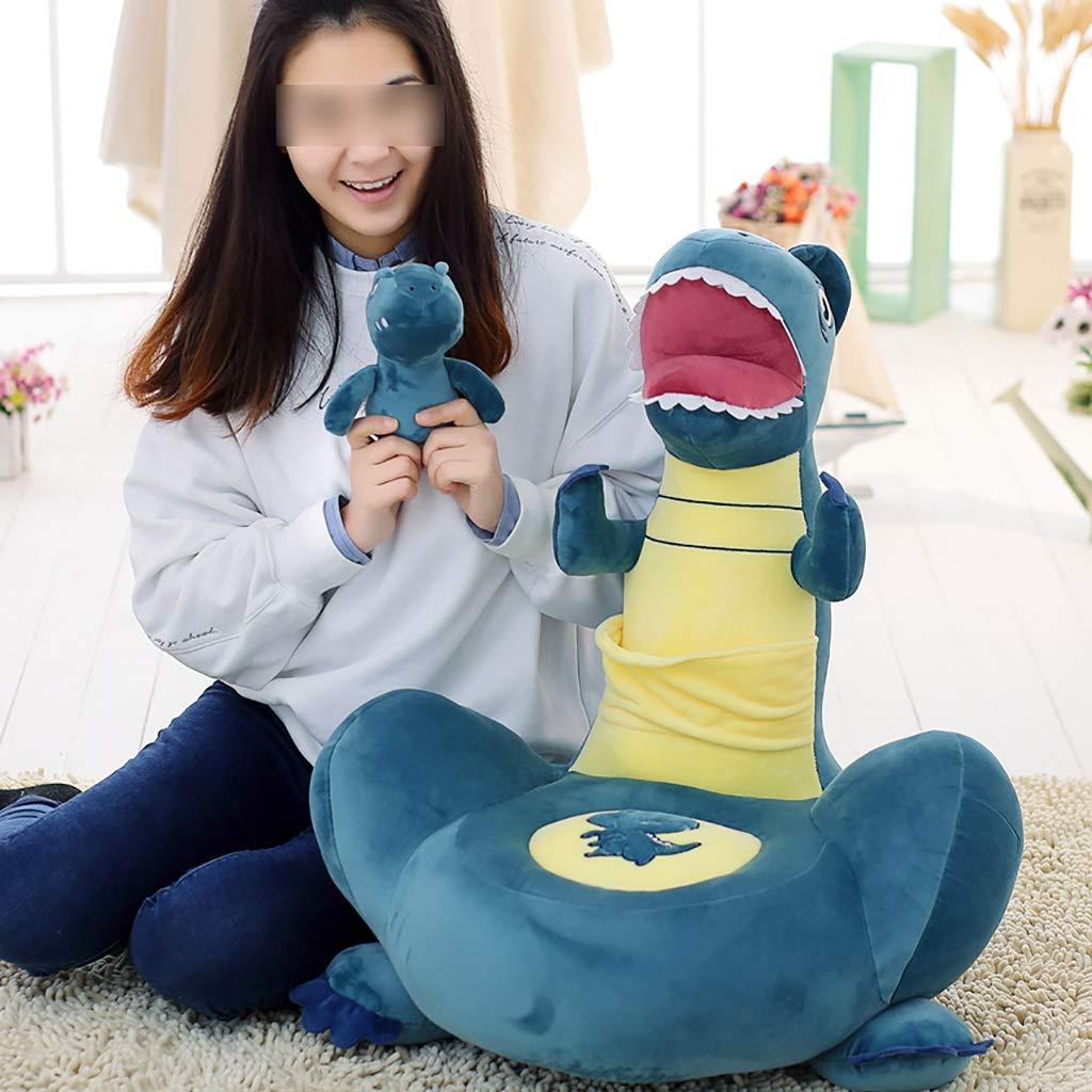 LIUYONGJUN Sof/á para Ni/ños Dinosaurio De Dibujos Animados Mu/ñeco De Peluche Beb/é Pillow Boy Girl Coj/ín De Suelo Sof/á Regalo para Ni/ños 3 Colores Opcionales Color : Azul