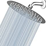 Voolan High Pressure Shower Head - 8' Rain Shower head Made of 304 Stainless Steel - Comfortable Shower Experience Even at Low Water Flow (1.8GPM, Brushed Nickel)