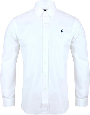 Ralph Lauren Polo camisa de hombre ajuste personalizado de popelina blanco azul marino negro S – XXL