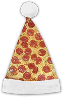 Delicious Pizza Christmas Holiday Hat Printed Funny Holiday Decoration for Children, Adult