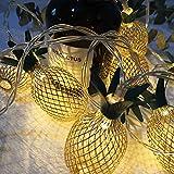 Luces de Jardín, Luces de Cadena para Patio al Aire Libre, Luces de Patio Trasero, Luces Colgantes Impermeables de Metal para Balcón, Porche, Bistró, Decoración de Fiesta,