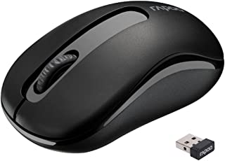 RAPOO Wireless Mouse Portable Mobile Optical Mini Mouse with USB Receiver for Notebook, PC, Laptop, Computer, MacBook (Black)
