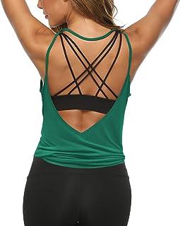LEXISLOVE پیراهن ورزش زنان پیراهن سکسی باز پشت لباس فعال لباس تمرین لباس ورزشی برترین مخزن یوگا
