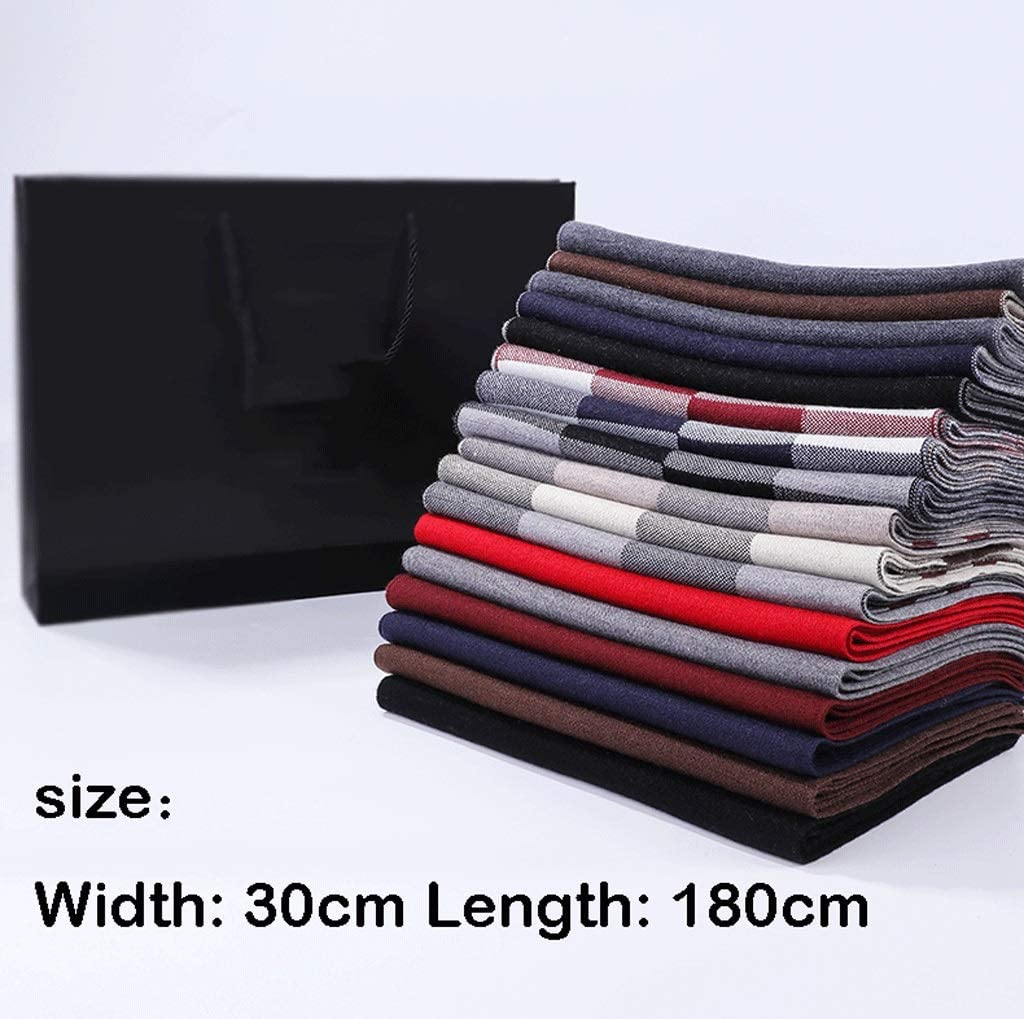 NYKK Scarf Shawl High-end Men's Scarf Winter Soft Wool Scarf Classic Plaid Birthday Gift Gift Box Winter Shawl (Color : L)