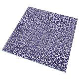Omabeta Tela de algodón transpirable para acolchar, manualidades, patchwork, monederos para el hogar (set de azul marino 50 x 50 cm)