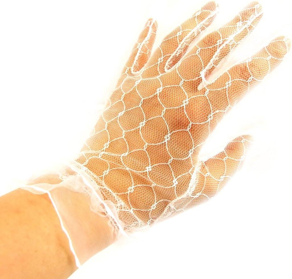 Gloves 'Dentelle' white.