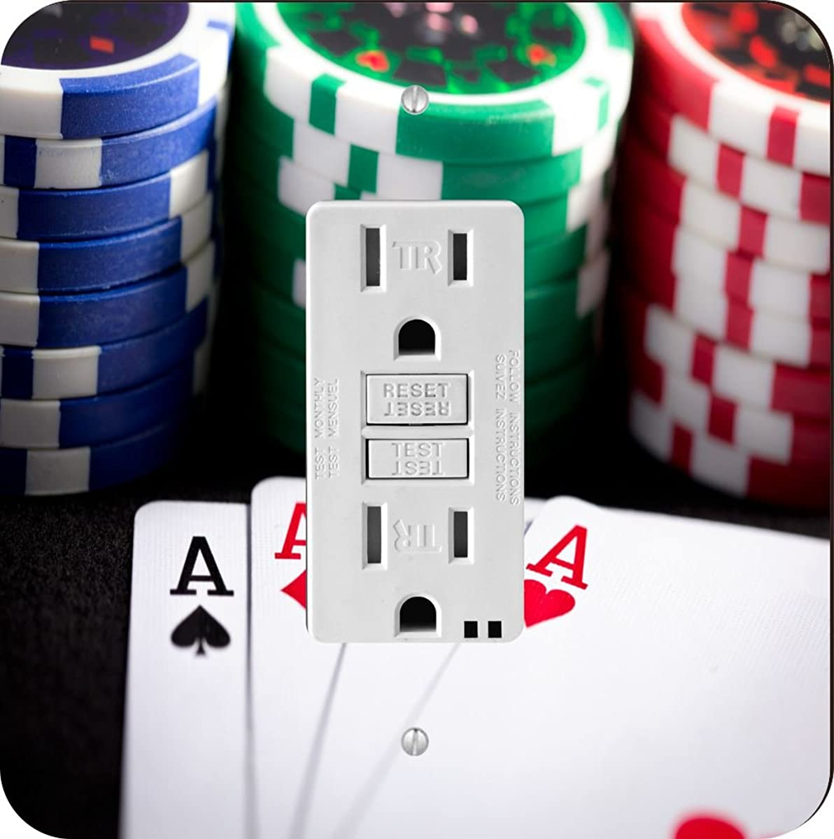 Rikki Knight 2040 playing cards and poker chips Design Light Switch Plate