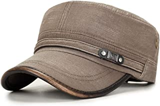 1 PCS Mens Washed Cotton Flat Top Hat Outdoor Sunscreen Military Army Peaked Dad Cap NEW