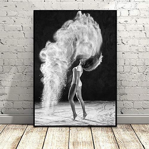 Carteles e impresiones artísticos de chicas hermosas Ballet Danza Arte de la pared Cuadro en lienzo Imágenes para la sala de estar Obra de arte nórdica Decoración de escritorio 40x60cmx1 Sin marco