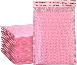 Nrpfell 50 st kuvertväskor i skum självförseglande postpaket vadderade kuvert med bubbelpostväska paket väska rosa