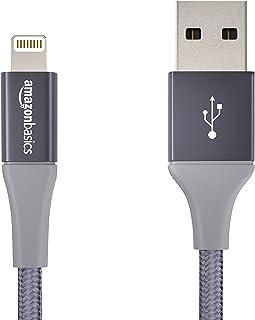 Amazonベーシック ライトニングケーブル USB 【iPhone対応 / Apple MFi認証】 ダークグレー 10cm 二重高耐久ナイロン製 アドバンスコレクション