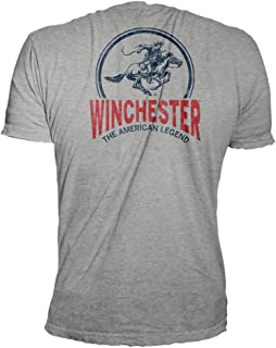 Winchester Horse and Rider Icon Logo Distressed Graphic T-Shirt for Men