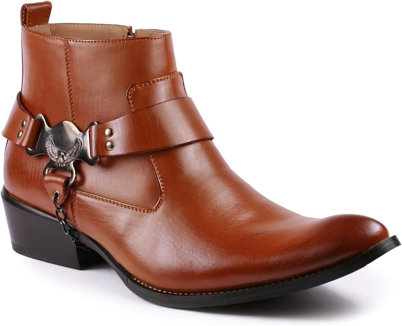 Metrocharm Diego-03 Men's Belt Chain Strap Western Cowboy Boots