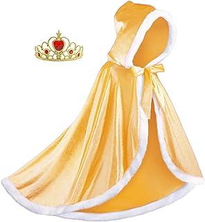Almce - Disfraz de princesa con capucha para disfraz de Hall