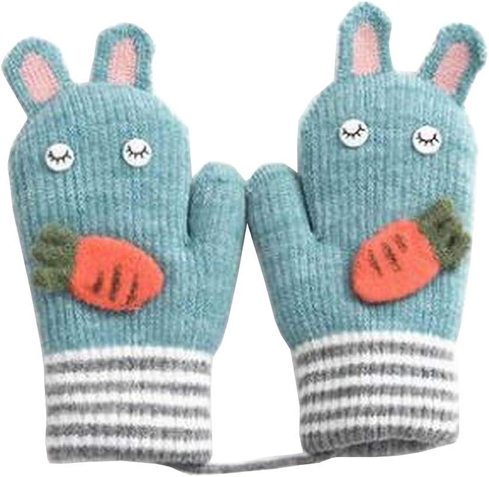 Lovely Knitted Baby Mittens Warm Winter Children Mittens Baby Gloves #26