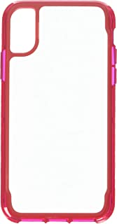Griffin Survivor Clear for iPhone X, Dark Red - See-Through Drop-Protection in an Ultra-Thin case so Your iPhone X Shines ...