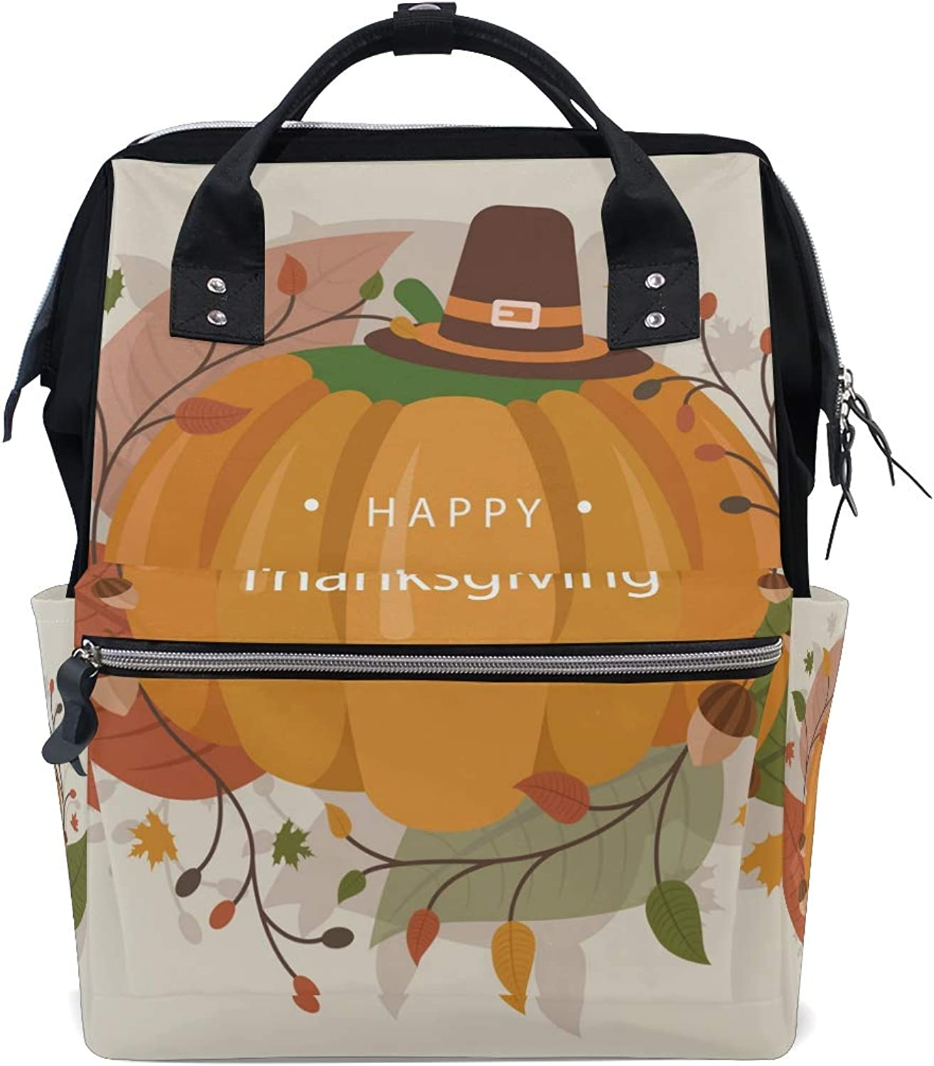 a17497d42ef2 FANTAZIO Backpacks Pumpkin School Bag Canvas Daypack Delicious ...