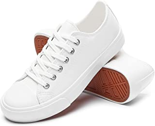 Women's Canvas Shoes Fashion Sneakers Low Top Tennis Shoes Lace up Casual Walking Shoes
