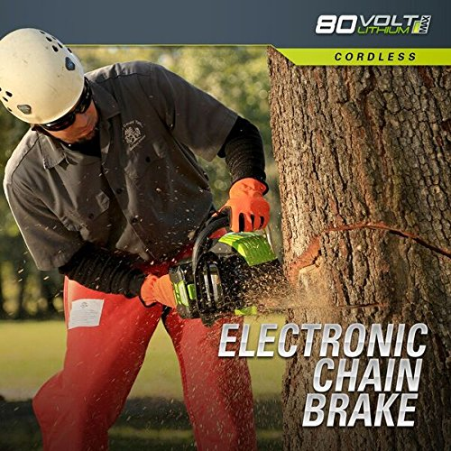 Greenworks Pro 80V 18 inch Cordless Chainsaw, Tool Only, GCS80450