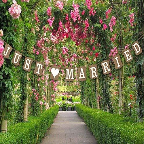 "Musuntas Girlande Vintage/Rustikal Kraftpappe ""Just Married,Hochzeits-Girlande, Banner - als Deko..."