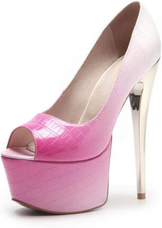 shoes For Woman Slip On Peep Toe High Heels 16cm