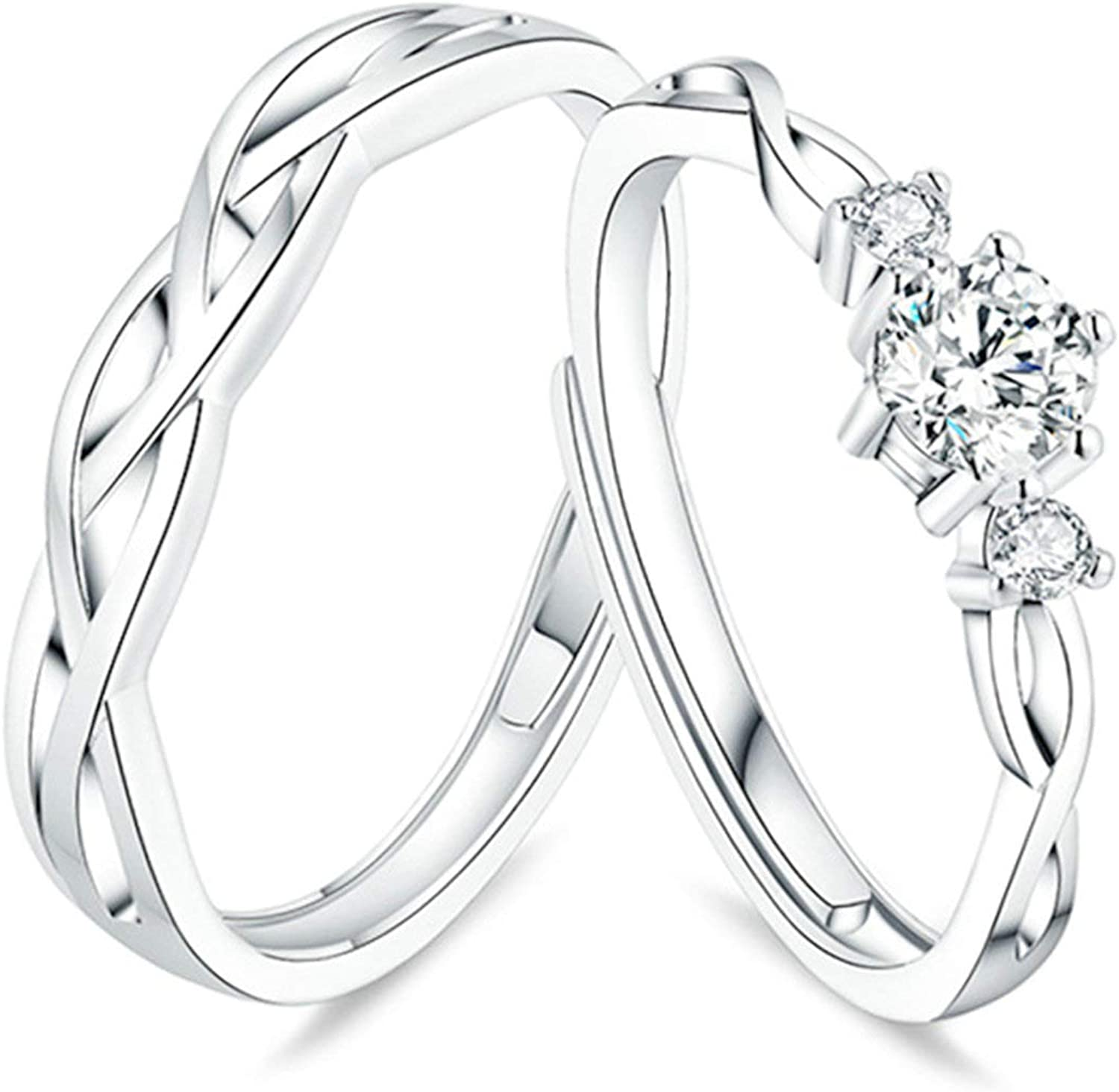 KnSam Matching Rings for Couples 925 Sales sale Her His Silver Sterling and San Diego Mall