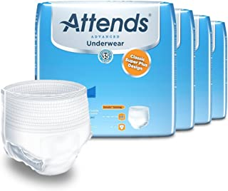 Attends Advanced Protective Underwear with Advanced DermaDry Technology for Adult Incontinence Care, X-Large, Unisex, 14 C...