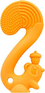 Mombella Scrat The Squirrel Silicone Baby Chew Toy for 6M+ Babies Whose Teeth Already can be SEEN/ERUPTED,Orange