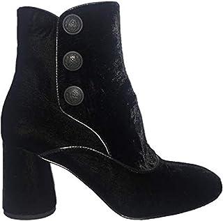 Donald J Pliner Women's Velvet Suede Ankle Bootie with Side Zipper (7.5, Black Velvet)
