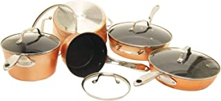 THE ROCK by Starfrit 030910-001-0000 10-Piece Cookware Set, Copper