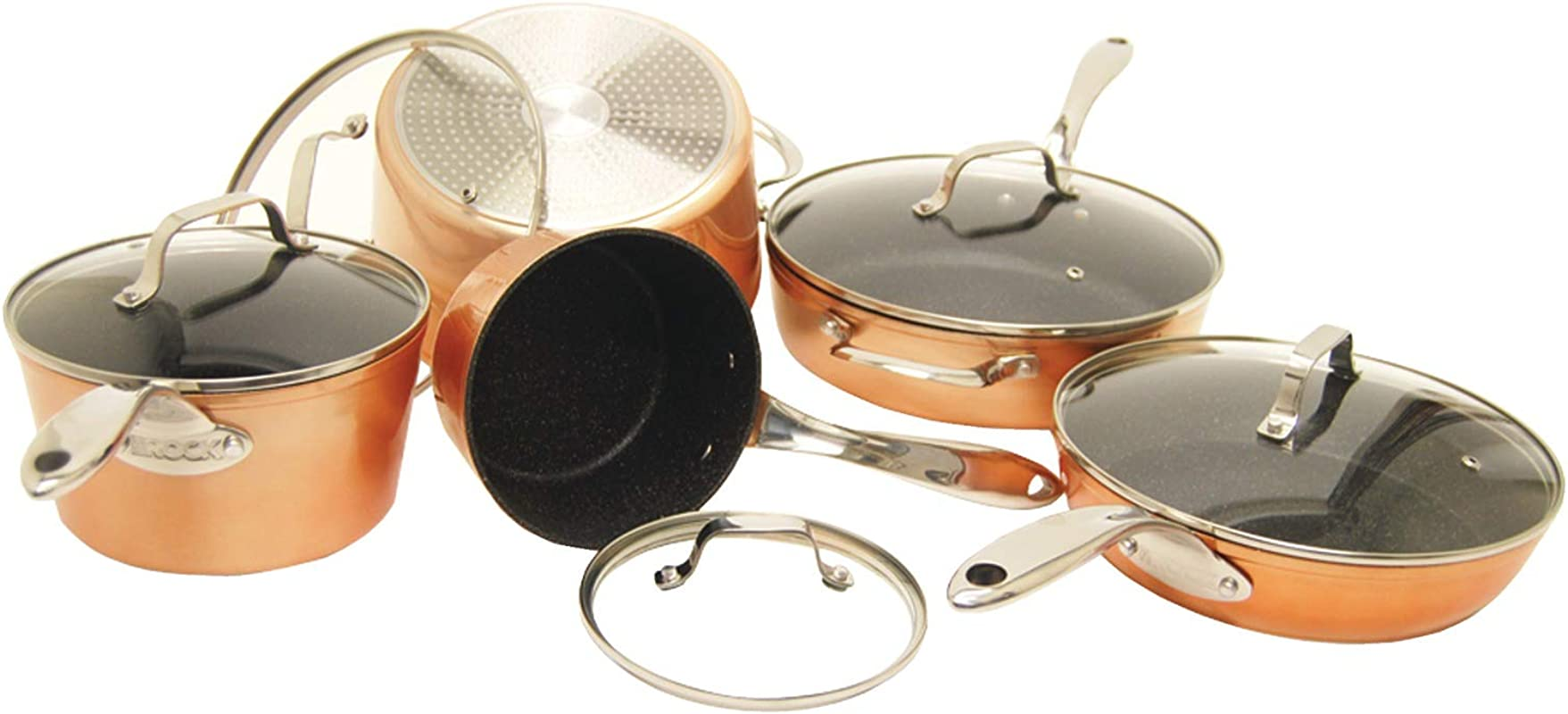 THE ROCK By Starfrit 030910 001 0000 10 Piece Cookware Set Copper