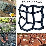 17' x 17' Big Size Concrete Molds Large DIY Garden Plastic Path Paving Brick Mould Patio Path Maker Concrete Stamps Garden Courtyard Decoration Irregular Pattern
