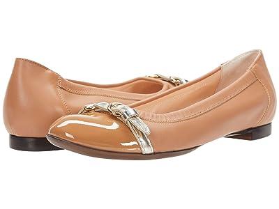 AGL Cap Toe Ballet Flat (Cognac) Women