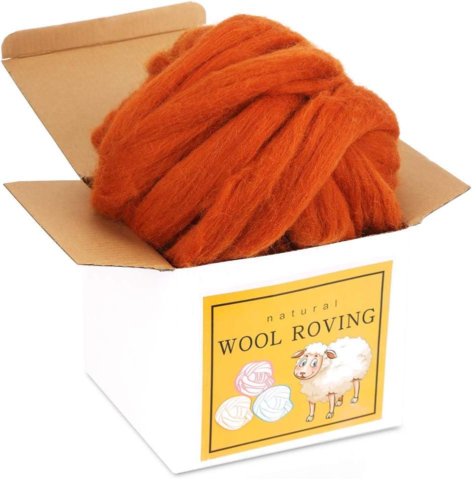 Wool Portland Mall Roving Bulk - 8.82oz New product type Super Chunky To Yarn