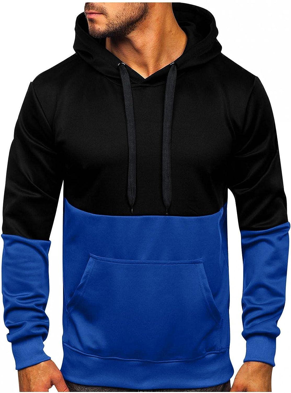 Hoodies for Men Spring Autumn Slim Casual Patchwork Hooded Long Sleeve Sweatshirts Top Fashion Hoodies & Sweatshirts Blouse