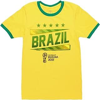 World Cup 2018 Brazil Ringer Adult T-Shirt