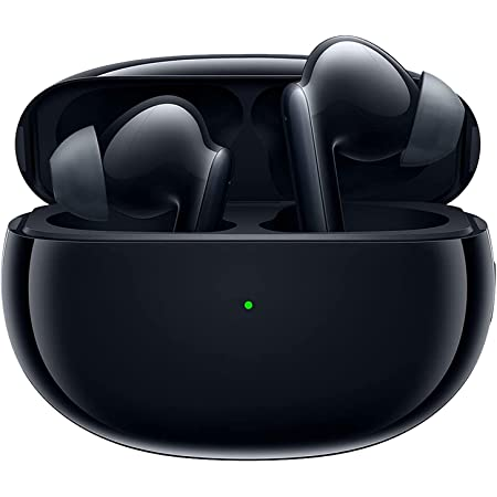 Oppo Enco X Bluetooth Active Noise Cancellation, Long Battery Life IP54 Dust & Water Resistant Wireless Earphones with Mic, Support (ANC) for Android and iOS - Black