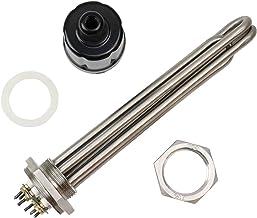 JINGERL DN32 Elektrisch verwarmingselement SUS304 Immersion Water Heater 3KW / 3.75KW / 4.5KW / 6KW / 9KW 220V (Color : He...